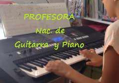 Profesora nac clases piano guitarra cantocaba ingresos una