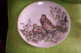 Plato oval de caza (lote 2platos) sellado games birds