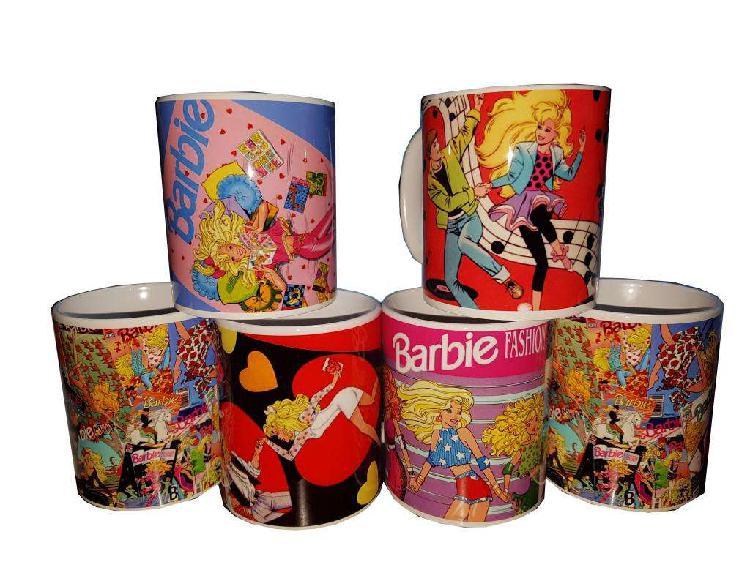 Taza ceramica barbie retro años 90s comics