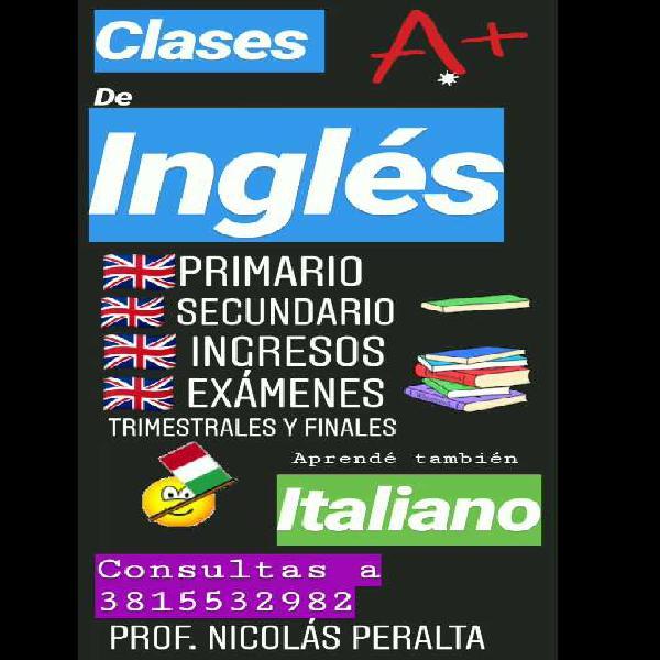 Clases particulares de inglés e italiano