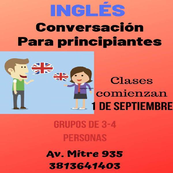 Inglés- clases orientadas a conversación