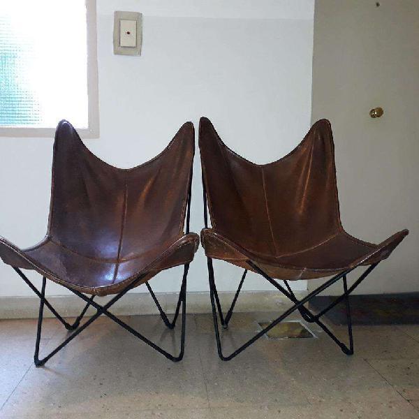 2 sillones bkf-cuero vacuno, cosido artesanal-¡¡¡precio