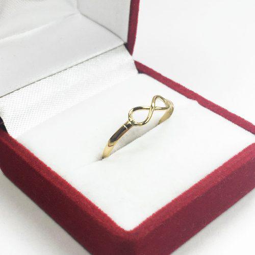 Anillo oro 18 k infinito 15 años mamá novia regalo promo
