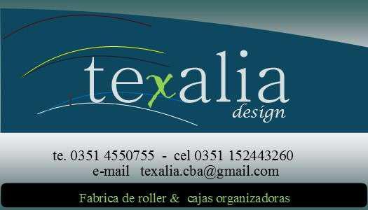 Cortinas roller texalia design en Córdoba