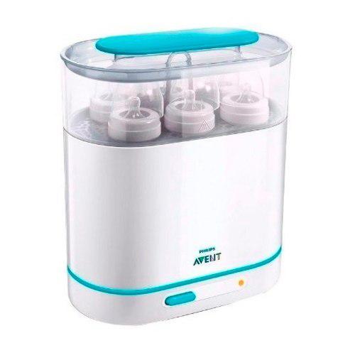 Esterilizador eléctrico avent 3 en 1 para 6 mamaderas