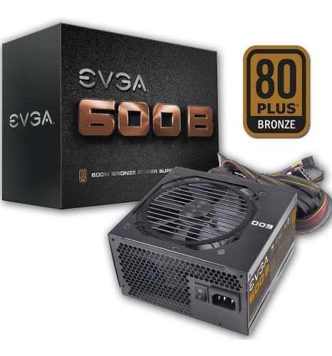 Fuente pc evga bronze 600w 80 plus 49amp mallada mexx1