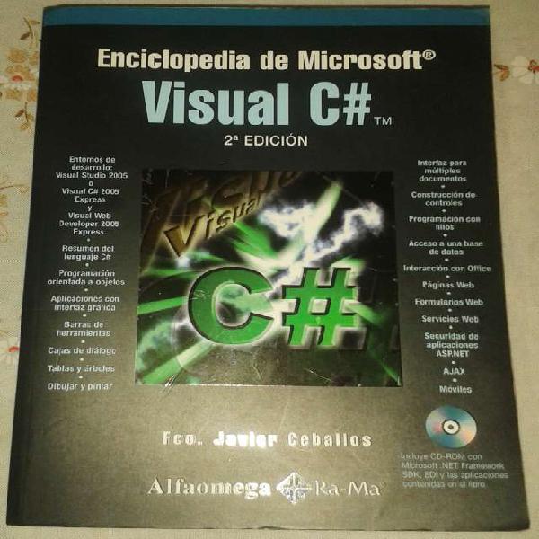 Libro de visual c# sharp en Montserrat