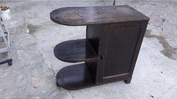 Mueblecito estilo artdeco antiguo roble macizo.. 1800