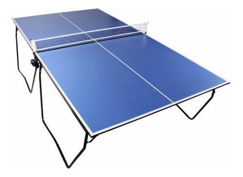 Mesa de ping pong profesional plegable con ruedas y red
