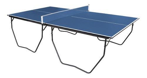 Mesa de ping pong reforzada plegable prof con ruedas y red