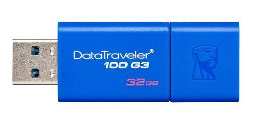 Pen drive kingston 32gb datatraveler dt100 g3 azul usb 3.0