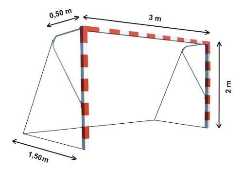 Red arco papi futbol salon futsal chico 3x2m polietileno 3mm