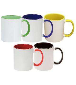 Taza ceramica de color. personajes coco