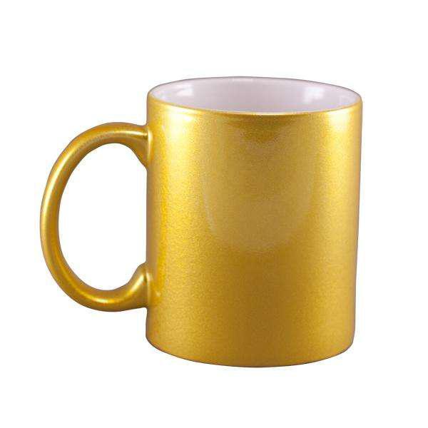 Taza dorada y plateada personalizadas