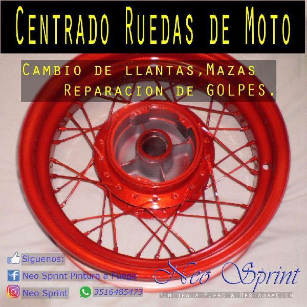 Armado, centrado y reparacion de ruedas de motos