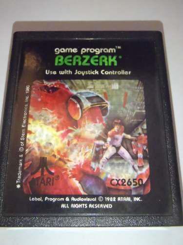 Berzerk cartucho juego atari 2600 rarity 1 funcionando