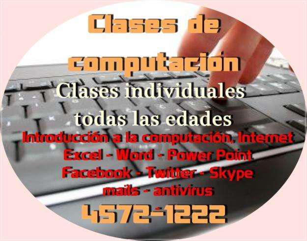Computacion desde cero clases individuales devoto v.