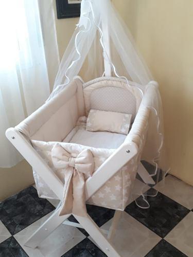 Catre solo bolsa de tela+tul+base+colchón