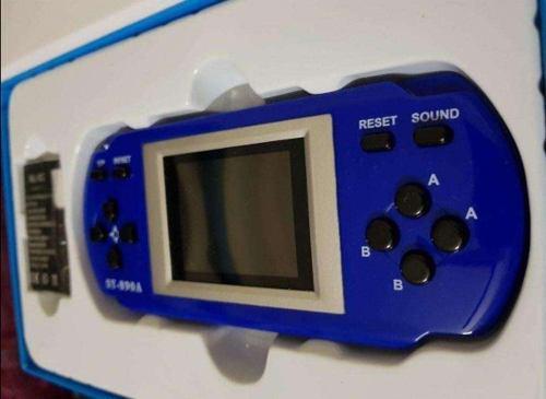Consola portátil azul 300 video juegos regalo día del