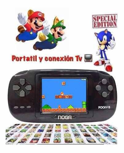 Consola portátil y tv mario sonic 8bits retro game 168