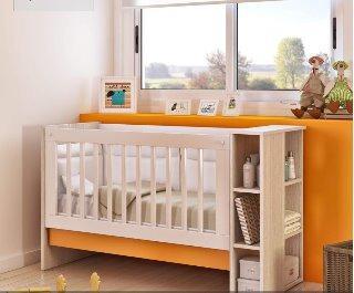 Cuna convertible bebe 4 en 1 cuna moises mesita escritorio