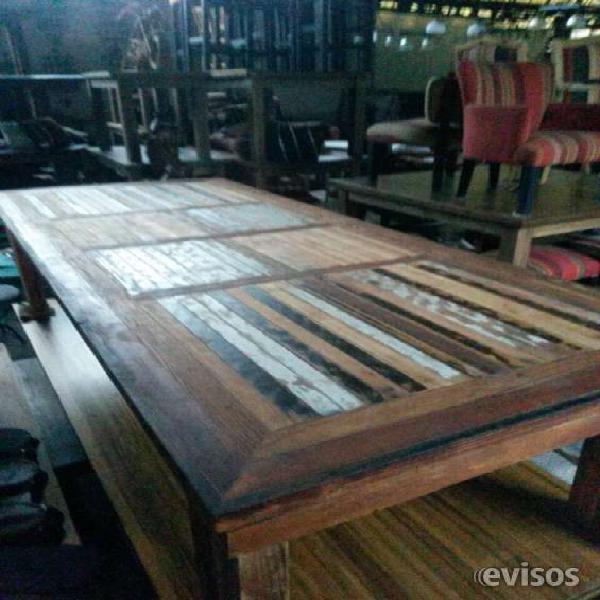 Mesa grande madera reciclada en don torcuato