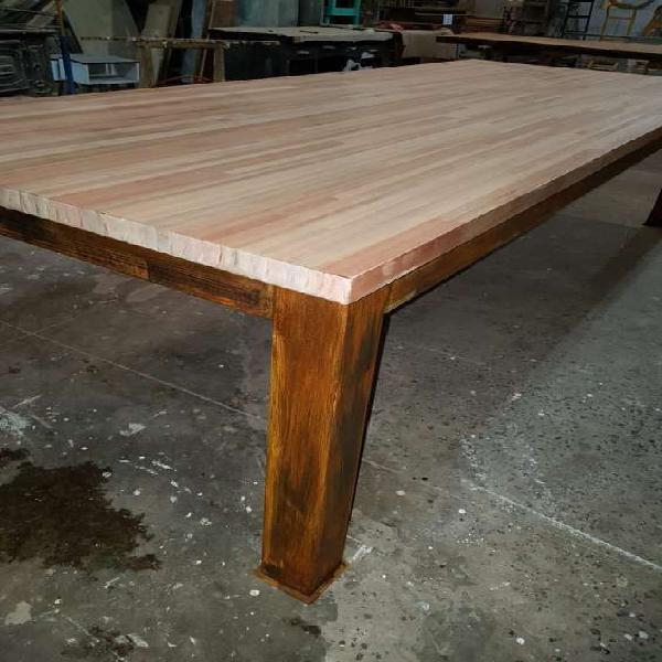 Mesa hierro madera ideal exterior en tigre