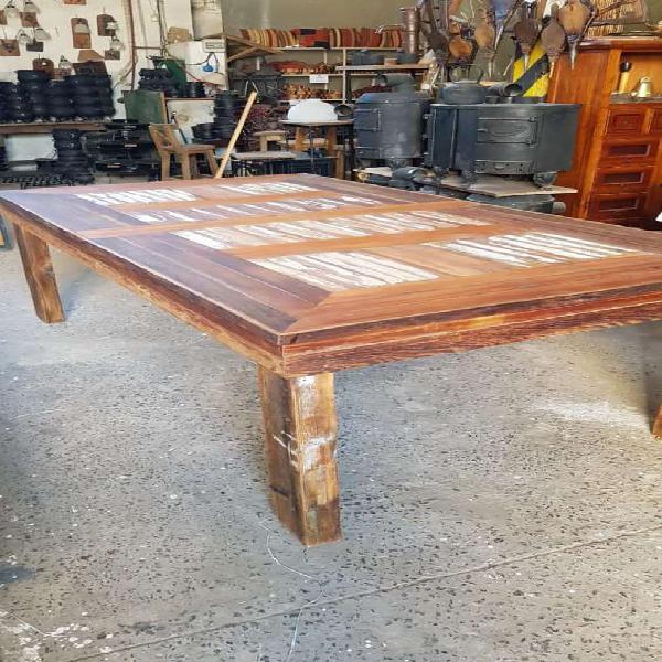Mesa madera reciclada ideal galeria 120 x 220 en don