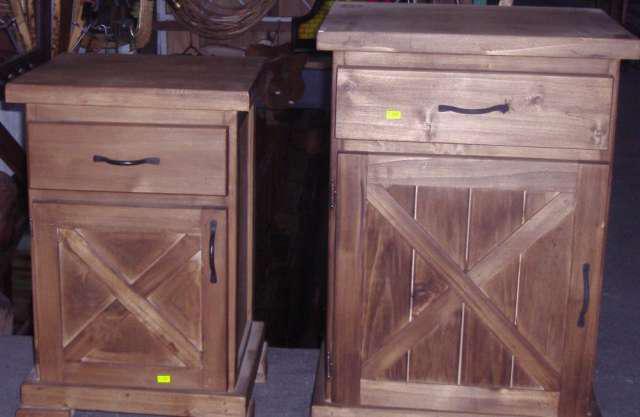 Mesas de luz estilo campo varios modelos en don torcuato