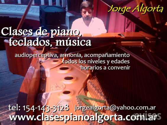 Organo, piano, teclados, clases particulares, profesor en