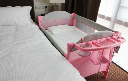 Practicuna colecho c/cambiador rosa tela premium ¡envío!
