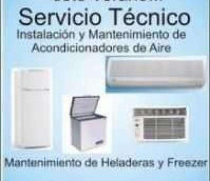 Servicio tecnico en reparación de split, heladeras, freezer