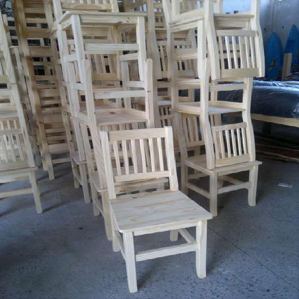 Sillas de pino directo de fabrica en don torcuato