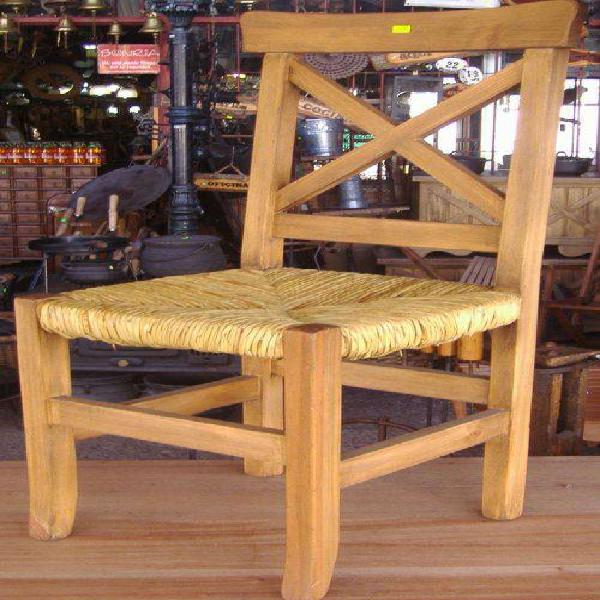 Sillas rusticas con asiento de junco en buenos aires