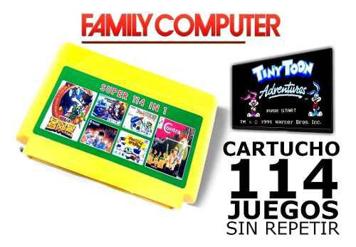 Super cartucho 114 juegos en 1 family game edición