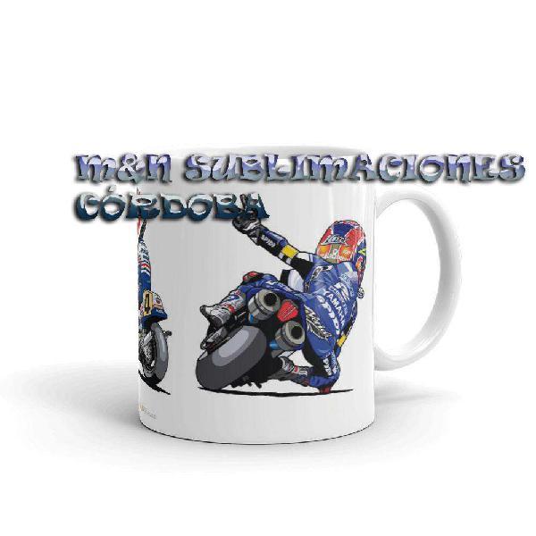 Taza personalizada moto caricatura