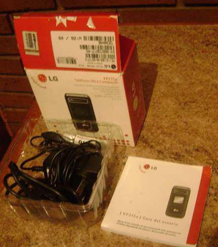 Accesorios completos sin usar para celular lg kp215a