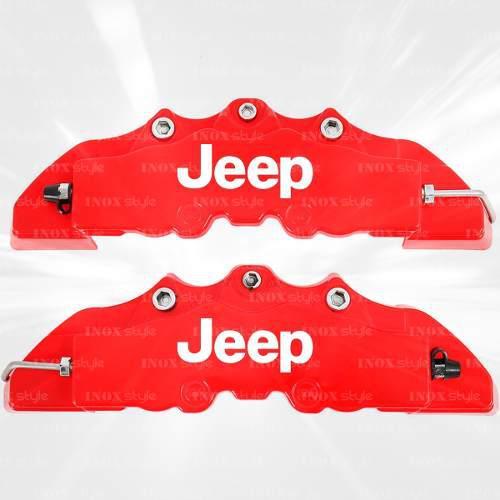 Kit 2 cubre calipers para jeep renegade cherokee compass