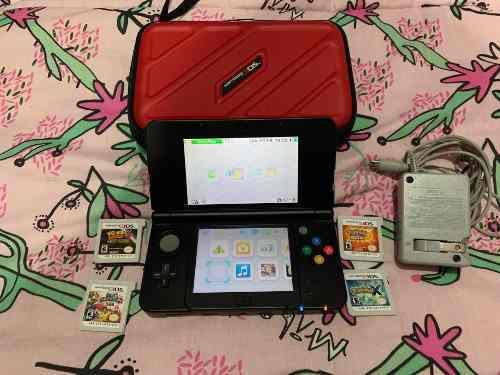 Nintendo 3ds + 4 juegos (2 pokemon) + funda + cargador !!