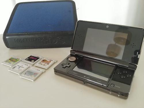 Nintendo 3ds old en caja + 7 juegos físicos y funda