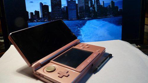 Nintendo 3ds rosa seminueva