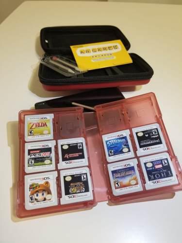 Nintendo 3ds usada en exc estado con 10 juegos