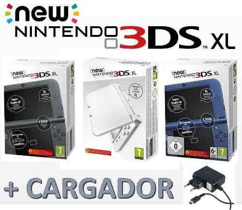 Nintendo 3ds xl new + cargador de pared original nueva