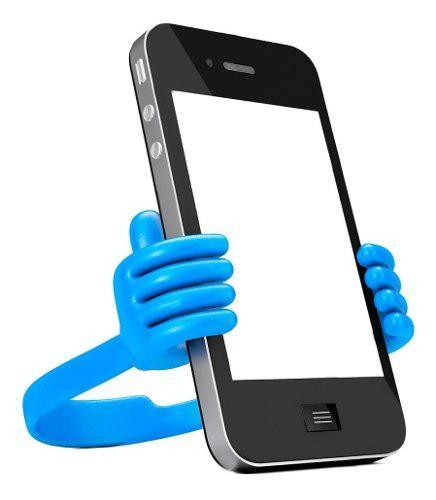 Soporte celular universal forma manos porta tablet