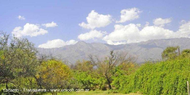 Yacanto traslasierra córdoba 1150mts2 -escritura vistas
