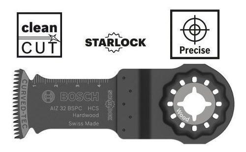 Accesorio madera dura bosch multicortadora gop starlock