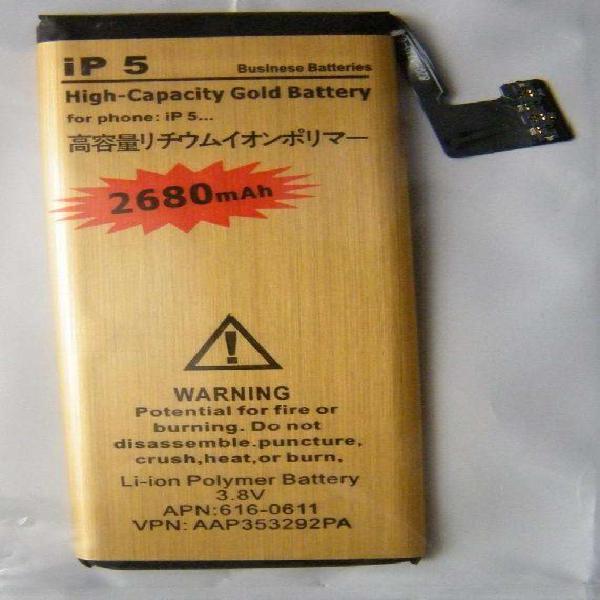 Batería para iphone 5 /5g alta capacidad 2680 mah nueva,