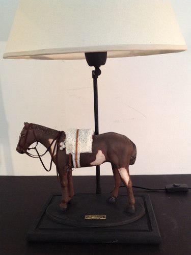 Caballo polo carrera criollo lampara decoracion arte regalo