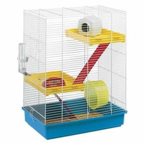 Jaula hamster,jerbo,topo tris white 3 piso ferplast z.norte