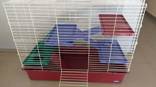 Jaula huron conejos chinchillas 3 pisos - centro pet
